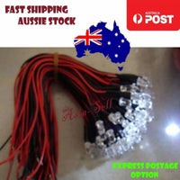 10pcs 5mm 12V Wired LEDs White Blue Green UV Red Yellow Pink Cables 8000MCD LED