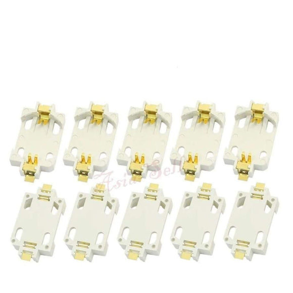 10pcs White Battery Holder CR2032 SMD SMT Cell Button Socket Case | Asia Sell
