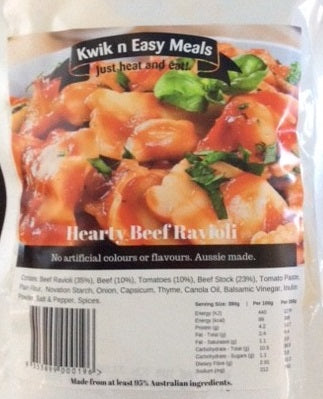Kwik n Easy Meals Hearty Beef Ravioli