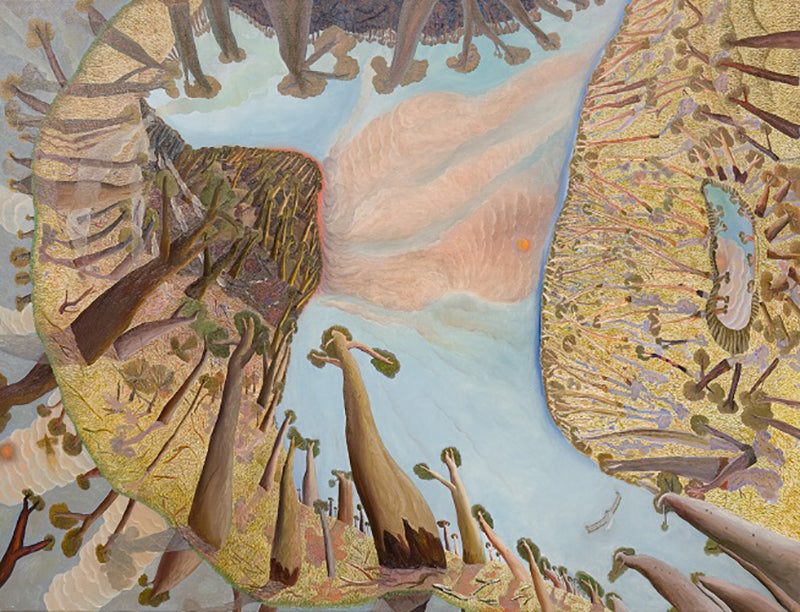 Image- William Robinson AO, The Creation series (series of 5 paintings), 1988, oil on linen, 147.2 x 193cm (each). State Art Collection, Art Gallery of Western Australia. Purchased 1989