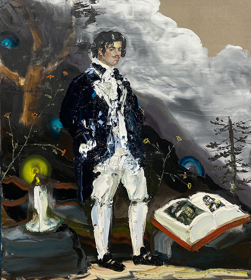 The Botanist and the storm 2021 _ Oil on linen _ 138 x 122cm Paul Ryan