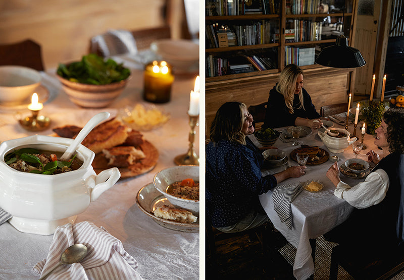 A rustic lunch in a vintage setting