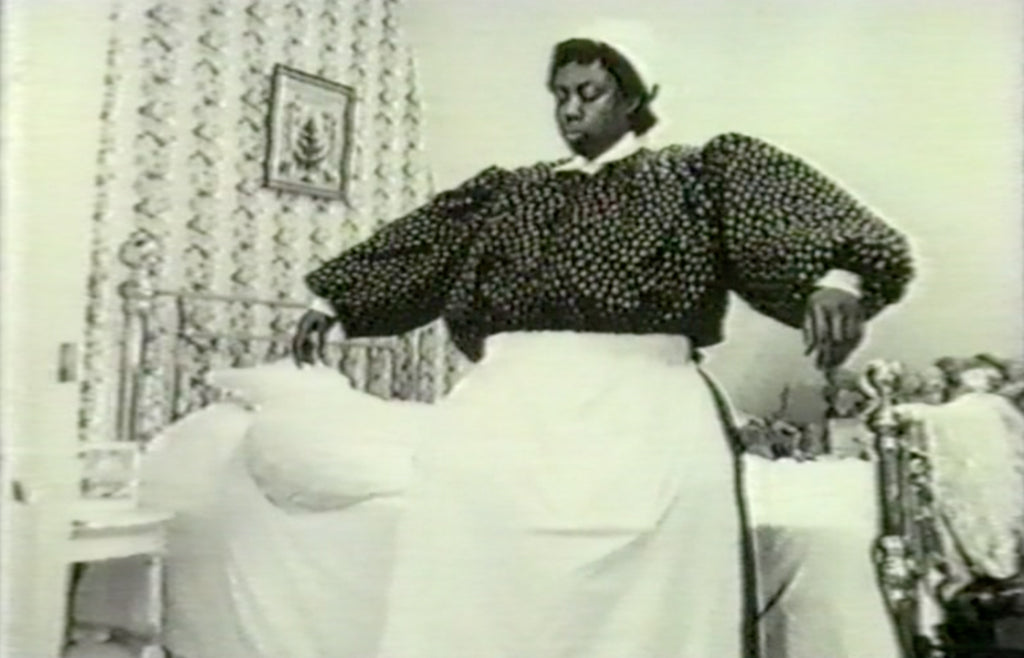 Video still from the work Lip