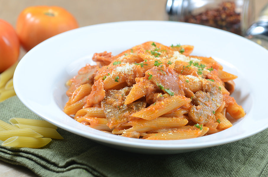 Penne Rosa and Bacon Pasta 4