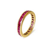 Vintage 18k Gold & Ruby Eternity Band