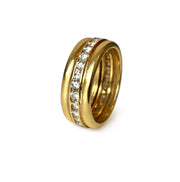 Vintage Italian 18k Gold & Diamond Eternity Band