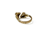 Vintage 18k Yellow Golden Fleece Bypass Ring