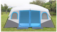 Large Family Camping Waterproof Cabin Outdoor for 8-12 Person tent