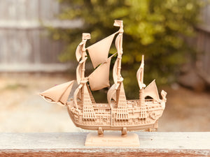 The Endeavor, The Drakkar by MakerBot using Mamorubot Wood