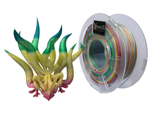 Xtron3D Silk Gradient Filament PLA 1.75mm 1KG - 3D Printer Filament