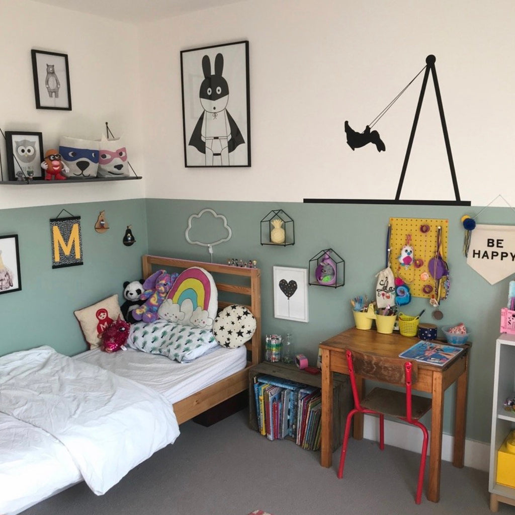 Combining vintage and modern in children's spaces, with Helen Shaw Owner of blue ticking.