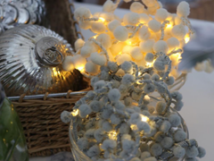 Pom Pom fairy lights, tinkling lights, Christmas