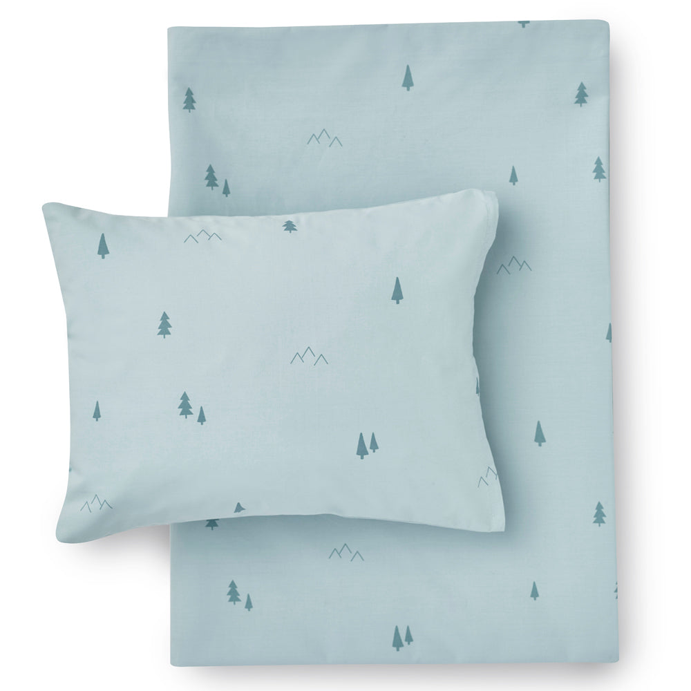 Hibou Forest Bedding Set, Aqua