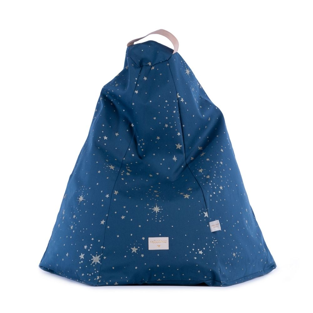 Nobodinoz Marrakech Beanbag Gold Stella/NightBlue from Pop & Punch