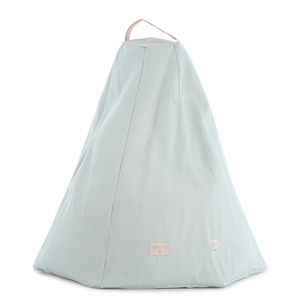 Nobodinoz Marrakech Beanbag White Bubbles/Aqua from Pop & Punch