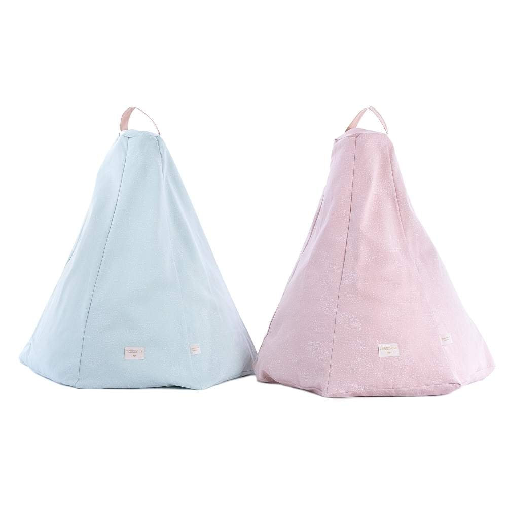 Nobodinoz Marrakech Beanbag White Bubbles/Aqua & Misty Pink from Pop & Punch