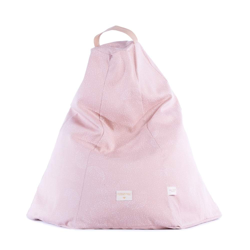 Nobodinoz Marrakech Beanbag White Bubbles/Misty Pink from Pop & Punch