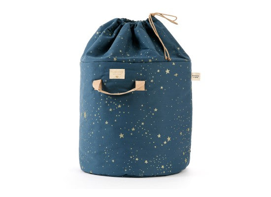 Bamboo Small Toy Bag, Gold Stella/Blue Night