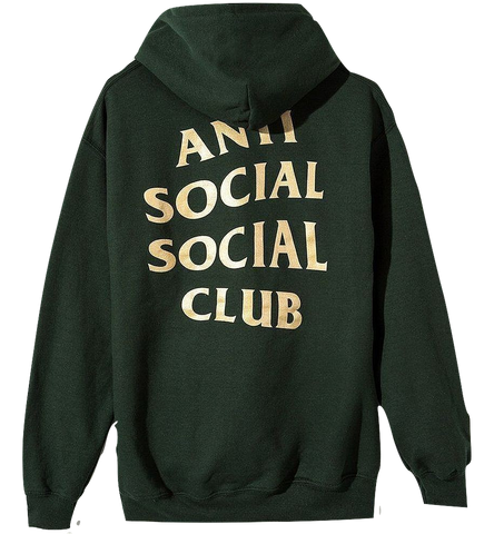 "Anti Social Social Club Hoodie ""Gold on Green"""
