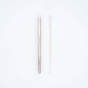 BOBA STAINLESS STEEL STRAW (SILVER)