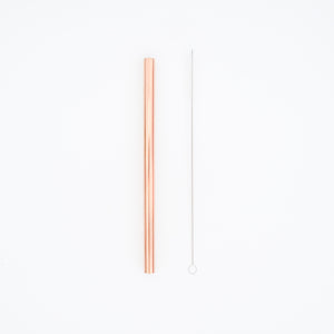 BOBA STAINLESS STEEL STRAW (ROSE GOLD)