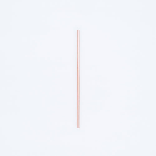 STAINLESS STEEL STRAW (ROSE GOLD)