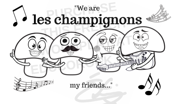 We are les champignons  - High quality downloadable image