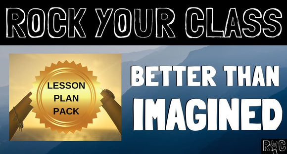 BETTER THAN IMAGINED Complete Lesson Plan Pack #rockyourclass