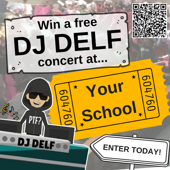 Register to Win a Free DJ DELF Concert at Your School!