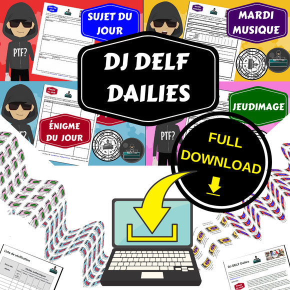 DJ DELF Dailies French bell work / convo starter videos package - DOWNLOAD