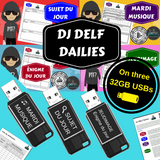 DJ DELF Dailies French bell work / convo starter videos package - Shipped on 3 USBs