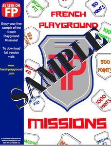 French Playground Missions Book - SAMPLER