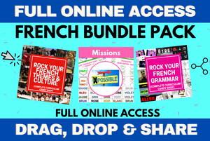 FRENCH BUNDLE 3-in-1 PACK - FULL ONLINE ACCESS