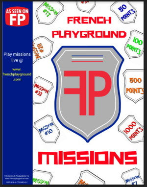 French Playground Missions Book - Downloadable