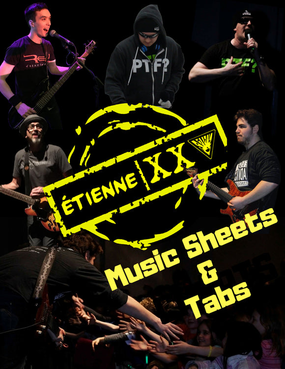 ÉTIENNE XXV Music Sheets and Tabs Folder