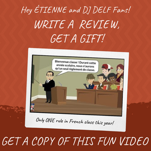 Only one rule in French class this year! (video)