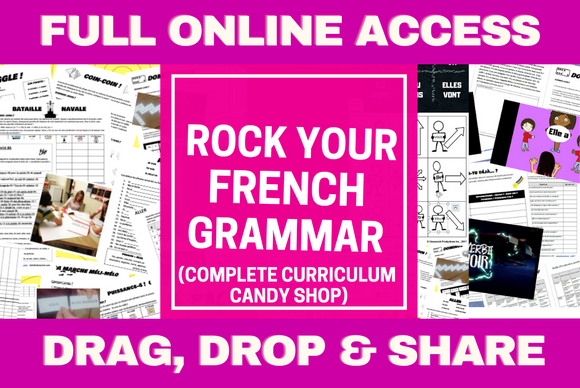 ROCK YOUR FRENCH GRAMMAR - COMPLETE ONLINE PLATFORM