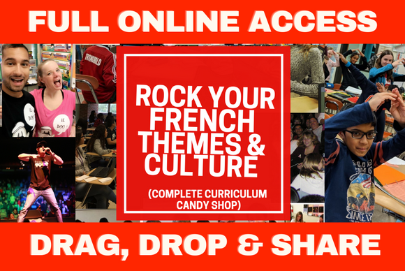 ROCK YOUR FRENCH THEMES & CULTURE - COMPLETE ONLINE ACCESS PLATFORM
