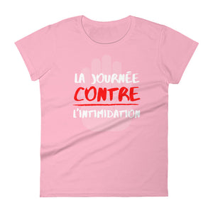 La journée contre l'intimidation 2020 Design - Anti-bullying PINK SHIRT DAY - LADIES' White Font