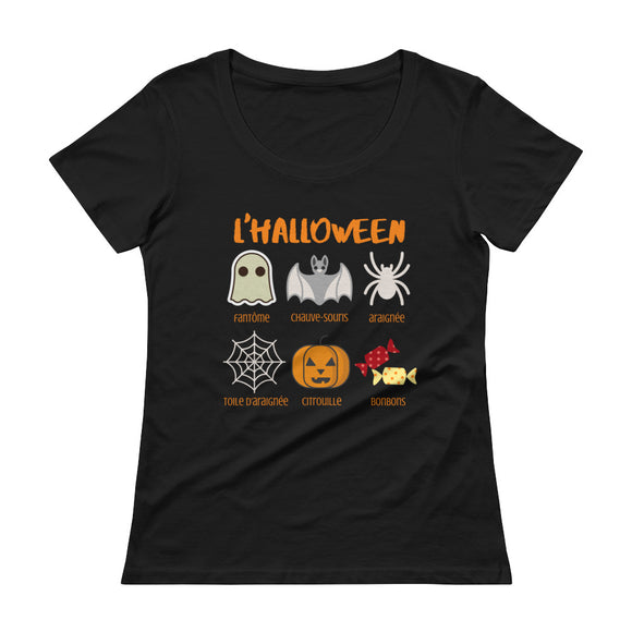 Halloween Vocab LADIES' Scoopneck T-Shirt