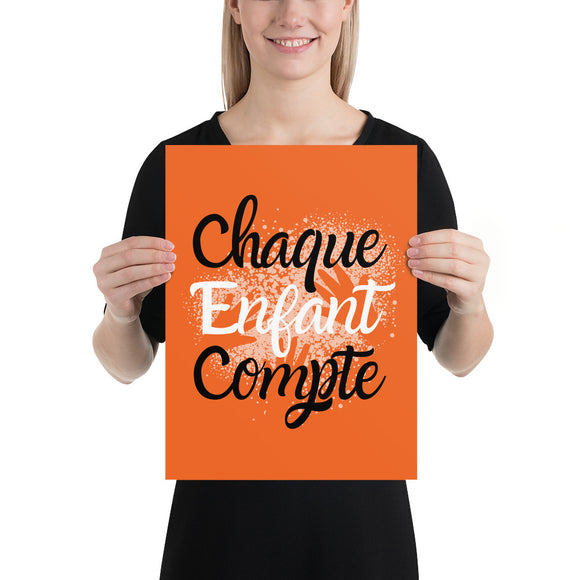 Chaque enfant compte #3 - Orange Shirt Day / La journée du chandail orange - Poster