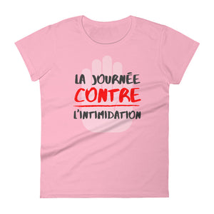 La journée contre l'intimidation 2020 Design - Anti-bullying PINK SHIRT DAY - LADIES' Black Font