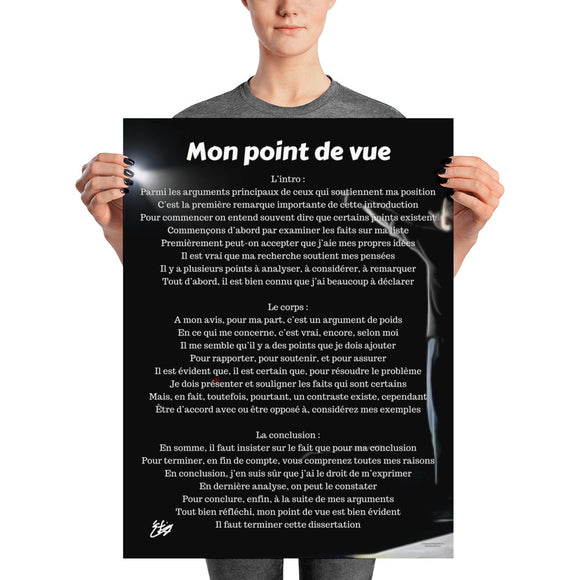 Mon point de vue Signature Series Poster