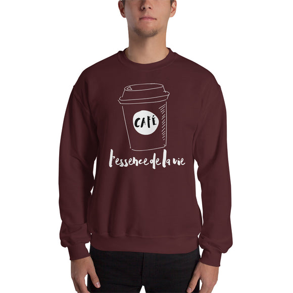 Cafe/Coffee - Essence de la vie Sweatshirt - UNISEX