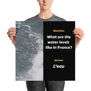 Water Is L'eau - High quality downloadable image