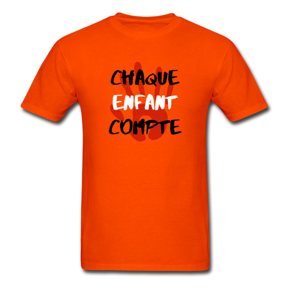Chaque enfant compte - ORANGE SHIRT DAY - Unisex Classic T-Shirt - orange