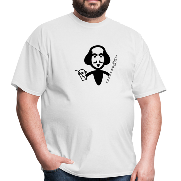 Shakespeare (Shake + Spear) Unisex Classic T-Shirt - white