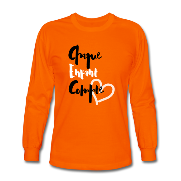 Men's Long Sleeve T-Shirt - orange