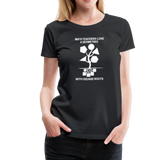 Math Teachers Love a Geometree With Square Roots - Women's Premium T-Shirt - black