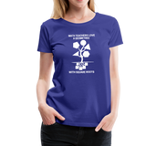 Math Teachers Love a Geometree With Square Roots - Women's Premium T-Shirt - royal blue